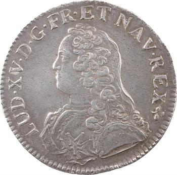 Louis XV, écu aux rameaux d'olivier, 1729 Troyes