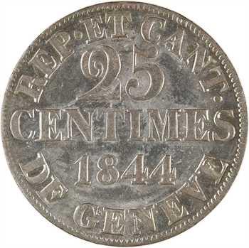 Suisse, Genève (canton de), 25 centimes 1844