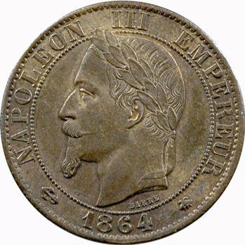 Second Empire, cinq centimes tête laurée, 1864 Paris