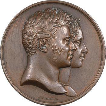 Duc et duchesse de Berry, naissance du duc de Bordeaux représenté en Hercule, 1820 Paris