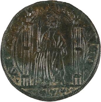 Philippe VI ou Charles IV, jeton de compte imitant le royal d'or, c.1330