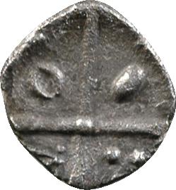 Volques Tectosages, obole à la croix, série 4, IIe-Ier s. av. J.-C.