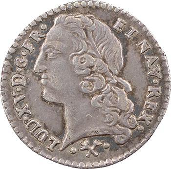 Louis XV, vingtième d'écu au bandeau, 1766 Bayonne