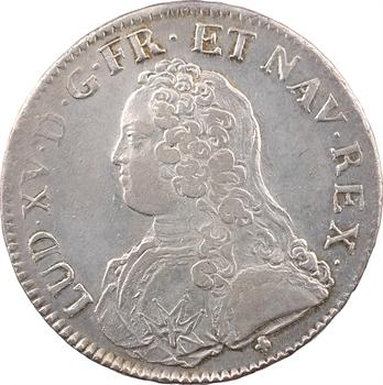 Louis XV, écu aux rameaux d'olivier, 1726 (après juillet) Troyes