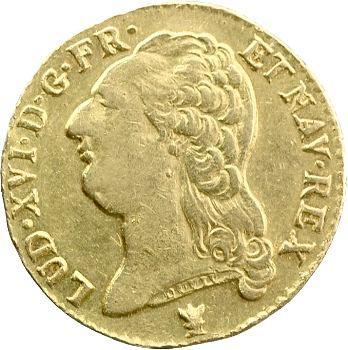 Louis XVI, louis d'or à la tête nue, 1787 Limoges