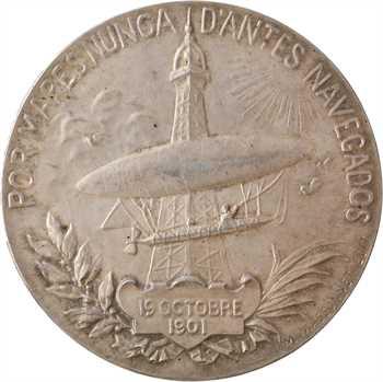 IIIe République, hommage à Santos-Dumont, par Kinsburger, 1901 Paris