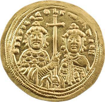 Basile II et Constantin VIII, histamenon nomisma, Constantinople, 976-1025