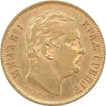Serbie (royaume de), Milan Ier, 10 dinara, 1882 Vienne