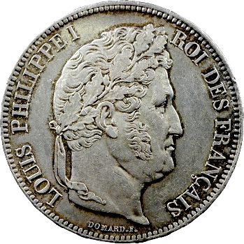 Louis-Philippe Ier, 5 francs IIe type Domard, 1833 Lille