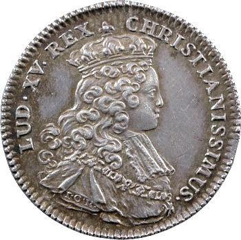 Louis XV, jeton du sacre en argent, 25 octobre 1722