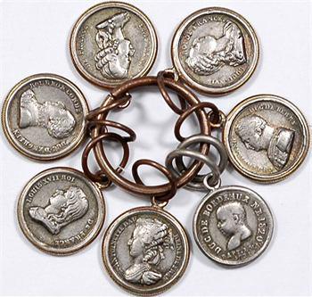 Henri V et la famille royale, série de 7 médaillettes, s.d