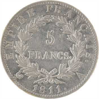 Premier Empire, 5 francs Empire, 1811 Paris