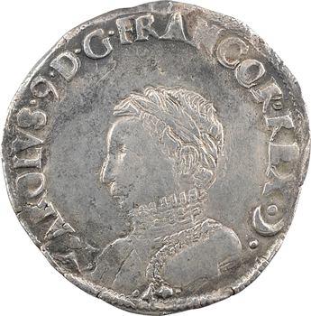 Charles IX, teston 4e type, 1565 Bayonne