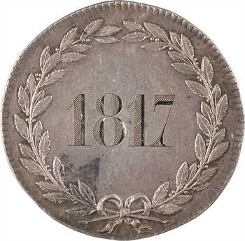 Louis XVIII, prix du bon chef de famille, par Gatteaux, s.d. Paris