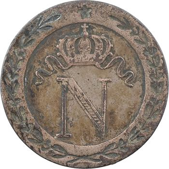 Premier Empire, 10 centimes à l'N couronnée, 1809 Perpignan