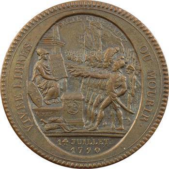 Constitution, cinq sols de Monneron au serment, An IV, 1792 Birmingham