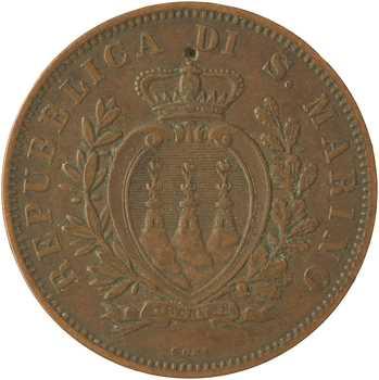Saint-Marin (République de), 10 centesimi, 1894 Rome