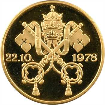 Vatican, Jean-Paul II, médaille en or PROOF, 1978