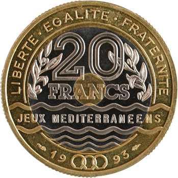 Ve République, essai de 20 francs Jeux Méditerranéens, 1993 Pessac