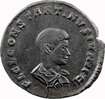 Constantin II, nummus, Trèves, 317-318