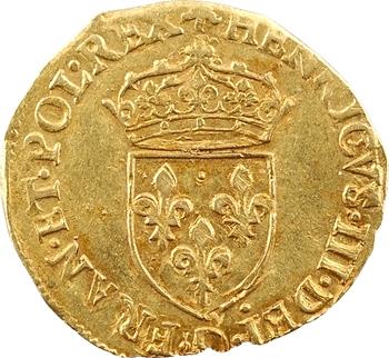 Henri III, écu d'or au soleil, 1578 Troyes