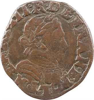Henri III, double tournois, buste à droite, 1587 Bayonne