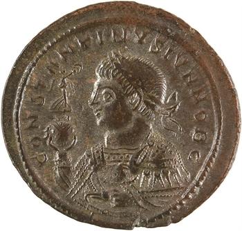 Constantin II, nummus, Trèves, 2e officine, 322-323