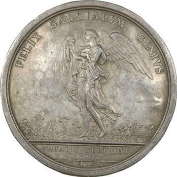 Louis XIV, naissance du Dauphin, cliché uniface de Molart, 1661, frappe ancienne