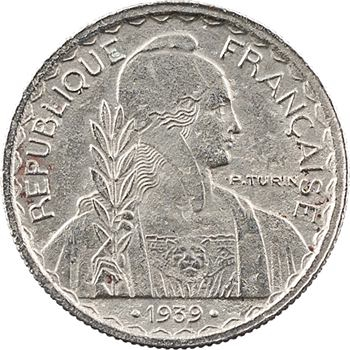 Indochine, 10 centimes non magnétique, date entre points, 1939 Paris