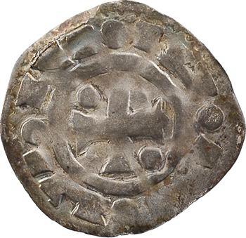 Normandie (duché de), Richard II et successeurs, denier aux temples juxtaposés et affrontés, s.d. Rouen