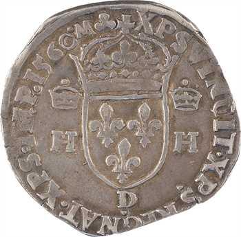 François II, (au nom d'Henri II), teston à la tête nue 1er type, 1560 Lyon