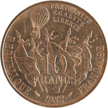 Ve République, essai de 10 francs Gambetta, 1982 Pessac