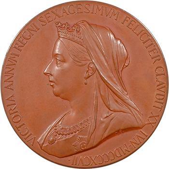 Royaume-Uni, Victoria, jubilé de diamant de la Reine, par T. Brock, 1837-1897, dans sa boîte