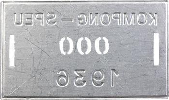 Indochine, Cambodge, Kompong-Speu, plaque de taxe n° 000, 1936