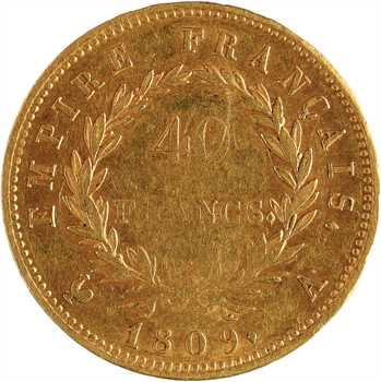 Premier Empire, 40 francs Empire, 1809 Paris