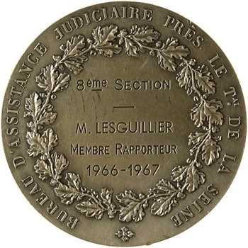 Ve République, Bureau d'assistance judiciaire du tribunal de la Seine, par Daniel-Dupuis, 1966-1967 Paris