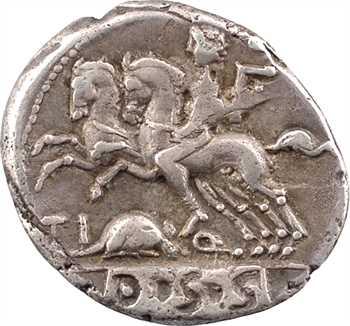 Quinctia, denier, Rome, 112-111 av. J.-C.