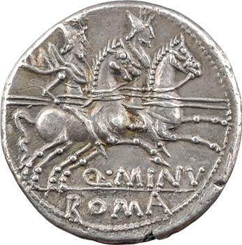 Minucia, denier, Rome, 122 av. J.-C.