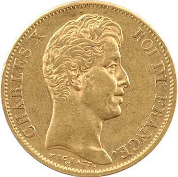 Charles X, 40 francs 2e type, 1828 Paris
