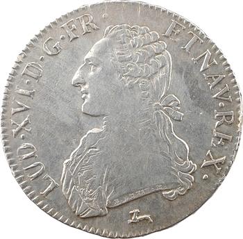 Louis XVI, écu aux branches d'olivier, 1787 Orléans