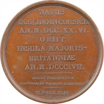 Corse, Pascal Paoli, série des hommes illustres, par Louizi, 1844 Paris