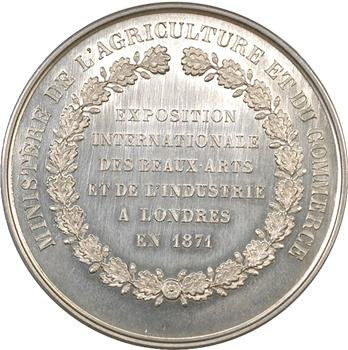 IIIe République, Exposition de Londres, médaille d'argent, 1871