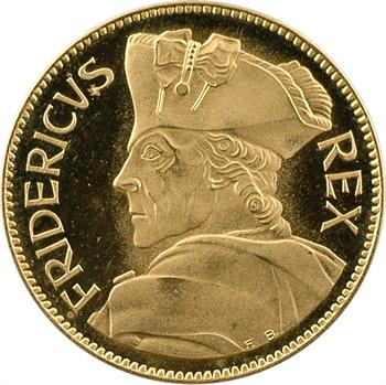 Allemagne, bicentenaire de Frédéric le Grand (II de Prusse), médaille en or PROOF, 1986