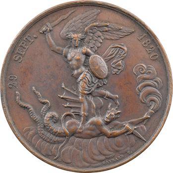 Naissance du Duc de Bordeaux, par Gayrard, dite médaille de Saint Michel, 1820 Paris
