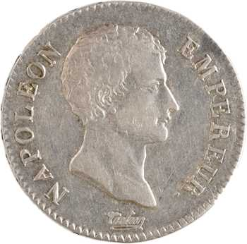 Premier Empire, 2 francs calendrier grégorien, 1807 Perpignan