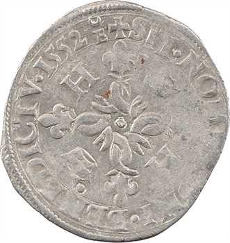 Henri II, douzain aux croissants, 1552 Troyes