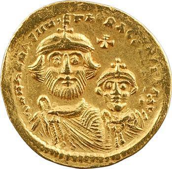 Héraclius et Héraclius Constantin, solidus, Constantinople, 10e officine, 610-641