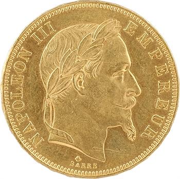 Second Empire, 50 francs tête laurée, 1864 Paris