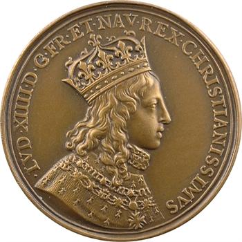 Louis XIV, sacre à Reims le 7 juin 1654, bronze, 1654 [après 1880] Paris