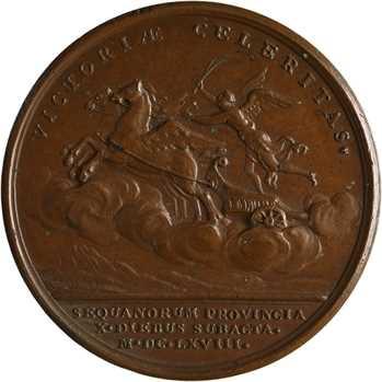 Louis XIV, conquête de la Franche-Comté, par Mauger, 1668 Paris